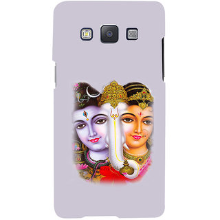ifasho Siva Parvati and ganesh Back Case Cover for Samsung Galaxy A7