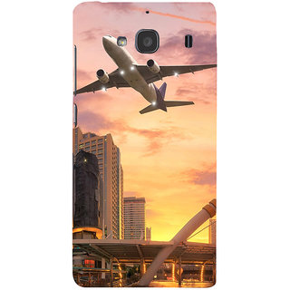 ifasho aeroPlane flying in city Back Case Cover for Redmi 2S