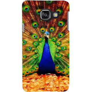 ifasho Beautiful Peacock Back Case Cover for Samsung Galaxy A3 A310 (2016 Edition)