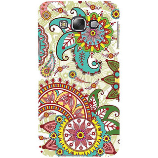 ifasho Animated Pattern colrful design flower with 3Daditional design Back Case Cover for Samsung Galaxy E7