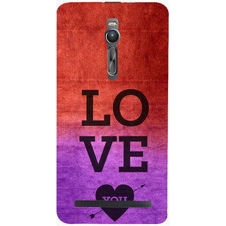 ifasho love you quotes Back Case Cover for Asus Zenfone2