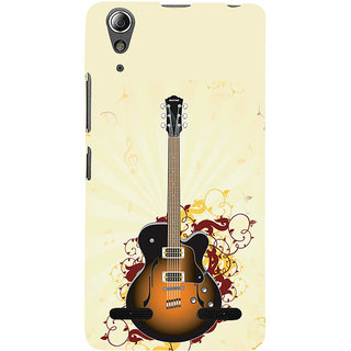 ifasho Modern Art Design Pattern Music Ins3Dument Guitar Back Case Cover for Lenovo A6000 Plus