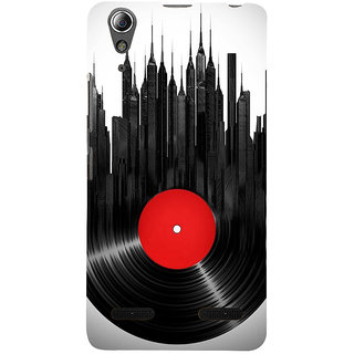 ifasho gramophone recod animated design as tower Back Case Cover for Lenovo A6000 Plus