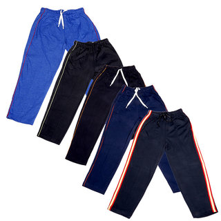 IndiWeaves Boys Premium Cotton Full Length Lower with 2 Open Pocket(Pack of 5)