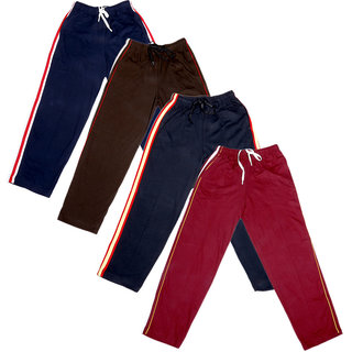 Indistar Boys Premium Cotton Full Length Lower with 2 Open Pocket(Pack of 4)