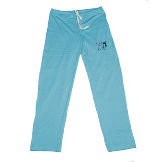 IndiWeaves Women's Stretchable Premium Cotton Lower/Track Pant_Blue_Free Size