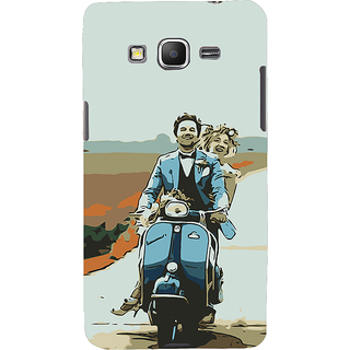 ifasho husband and wife happy drive in scooter Back Case Cover for Samsung Galaxy Grand Prime