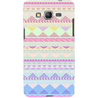 ifasho multi color 3Diangular Pattern Back Case Cover for Samsung Galaxy Grand Prime