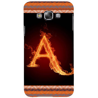 ifasho alphabet name series A Back Case Cover for Samsung Galaxy E7