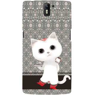 ifasho Winking and Dancing  Cat Back Case Cover for One Plus One