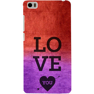 ifasho love you quotes Back Case Cover for Redmi Mi5