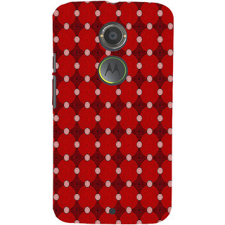 ifasho Design Clourful red and white Circle Pattern Back Case Cover for Motorola MOTO X2
