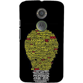 ifasho Quotes on idea animated bulb Back Case Cover for Motorola MOTO X2