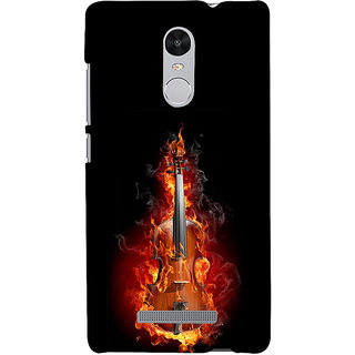 ifasho Animated  Guitar Back Case Cover for REDMI Note 3