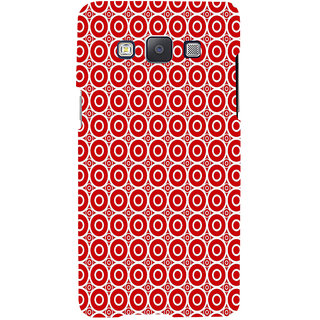 ifasho Animation Clourful white Circle on red background Pattern Back Case Cover for Samsung Galaxy A7