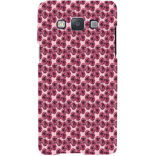 ifasho Animated Pattern small purple rose flower Back Case Cover for Samsung Galaxy A7