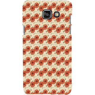 ifasho Modern Art Design animated cloth Pattern of flower Back Case Cover for Samsung Galaxy A7 A710 (2016 Edition)