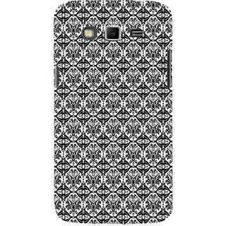 ifasho Animated Pattern design black and white flower in royal style Back Case Cover for Samsung Galaxy Grand