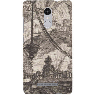 ifasho Modern art painting of city Building  Back Case Cover for REDMI Note 3