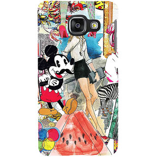 ifasho Modern Art Design Pattern girl shop car food bird Back Case Cover for Samsung Galaxy A3 A310 (2016 Edition)