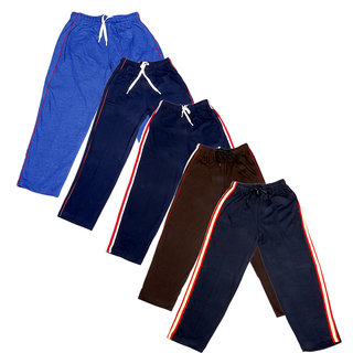 Indistar Boys Premium Cotton Full Length Lower with 2 Open Pocket(Pack of 5)