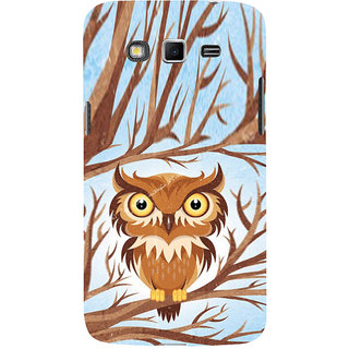 ifasho Animated Owl Pattern Back Case Cover for Samsung Galaxy Grand
