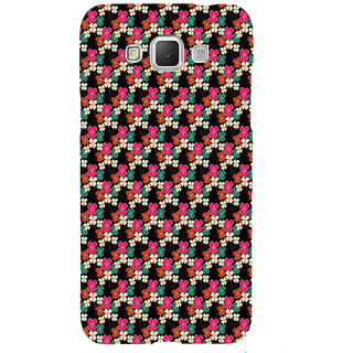 ifasho Animated Pattern design colorful flower in black background Back Case Cover for Samsung Galaxy Grand3