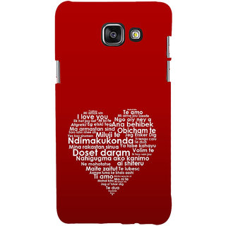 ifasho Love Quotes I love you Back Case Cover for Samsung Galaxy A5 A510 (2016 Edition)