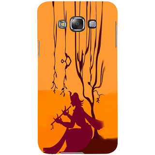 ifasho Lord Krishna with Flute animation Back Case Cover for Samsung Galaxy E7
