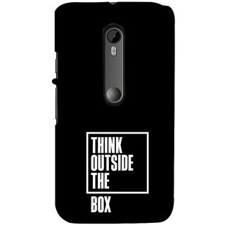 ifasho Think Out of Box Back Case Cover for Moto X Force