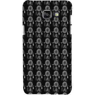 ifasho Animated Pattern With Circles and feathers Back Case Cover for Samsung Galaxy A5 A510 (2016 Edition)