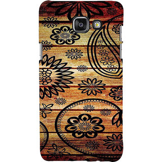 ifasho Animated Royal Pattern with Wooden back ground Back Case Cover for Samsung Galaxy A5 A510 (2016 Edition)