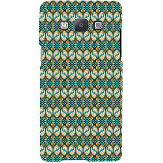 ifasho Animated Pattern design colorful flower in royal style with lines Back Case Cover for Samsung Galaxy A7