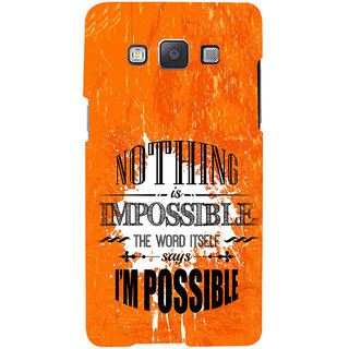 ifasho Good Quote on Achivement Back Case Cover for Samsung Galaxy A7