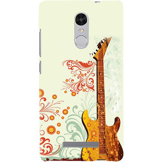 ifasho Modern Art Design Pattern Music Ins3Dument Guitar Back Case Cover for REDMI Note 3