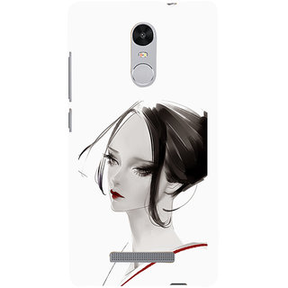 ifasho Chinese Girl Back Case Cover for REDMI Note 3