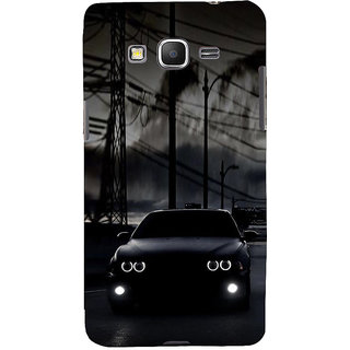 ifasho Black Car Back Case Cover for Samsung Galaxy Grand Prime