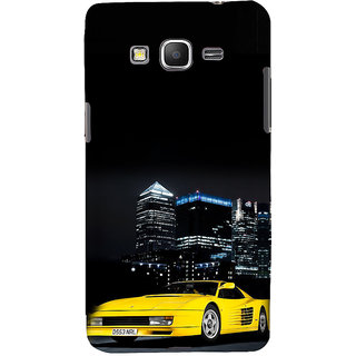 ifasho Stylish Yellow Car Back Case Cover for Samsung Galaxy Grand Prime