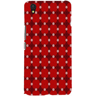 ifasho Design Clourful red and white Circle Pattern Back Case Cover for One Plus X