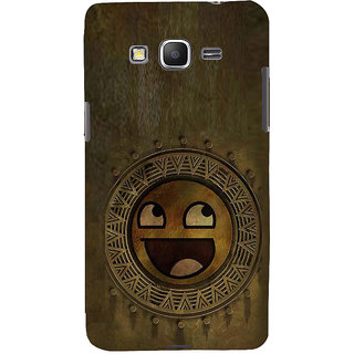 ifasho Smilee on wood Back Case Cover for Samsung Galaxy Grand Prime