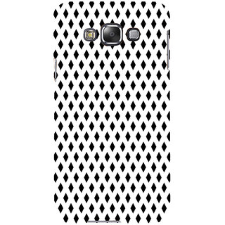 ifasho chevron style and Checks In black and white Pattern Back Case Cover for Samsung Galaxy E7