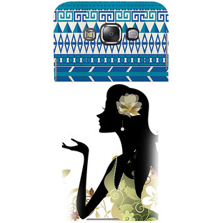 ifasho Girl  with Flower in Hair Back Case Cover for Samsung Galaxy E7