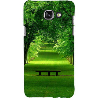 ifasho Green grass road with 3Dees on the two side Back Case Cover for Samsung Galaxy A5 A510 (2016 Edition)