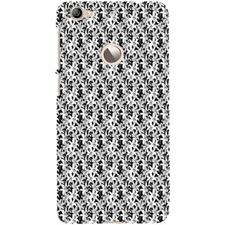 ifasho Animated Pattern black and white jasmin flower Back Case Cover for LeTV 1S