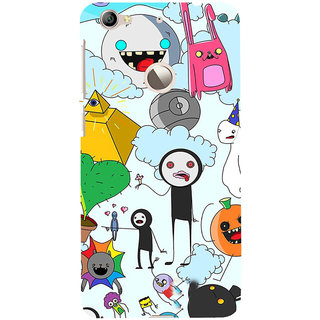 ifasho Cartoon Soft face many cartoons characters Back Case Cover for LeTV 1S