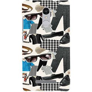 ifasho Modern Art Design Pattern man dress shoes spec belt Back Case Cover for REDMI Note 3