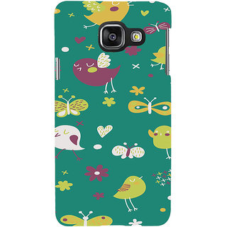 ifasho Animated Pattern birds and butterfly Back Case Cover for Samsung Galaxy A3 A310 (2016 Edition)