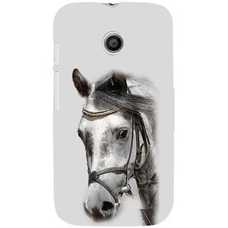 ifasho Designed Painting Horse Back Case Cover for MOTO E