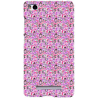 ifasho Colour Full Squre Pattern Back Case Cover for Redmi Mi4i