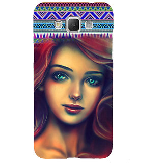 ifasho Gorgeous Winking Girl Back Case Cover for Samsung Galaxy Grand3